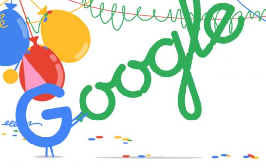 Con motivo del 21 aniversario de Google, regrese
